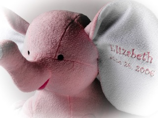 Sissy Personalized Elephant Baby Gift
